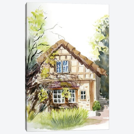 Cottage Canvas Print #OSF87} by Olga Shefranov Canvas Art
