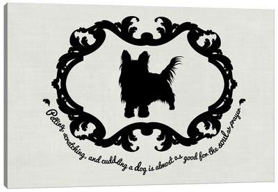 Yorkshire Terrier (Black&White) Canvas Print #OSP11
