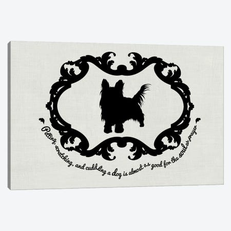 Yorkshire Terrier (Black&White) Canvas Print #OSP11} by 5by5collective Canvas Wall Art