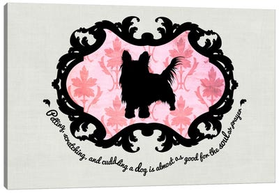 Yorkshire Terrier (Pink&Black) Canvas Print #OSP12
