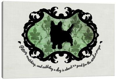Yorkshire Terrier (Green&Black) Canvas Print #OSP13