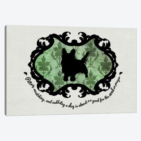 Yorkshire Terrier (Green&Black) Canvas Print #OSP13} by 5by5collective Canvas Wall Art
