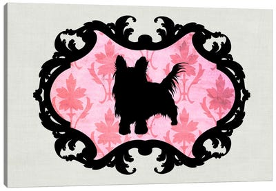 Yorkshire Terrier (Dark Green&Black) Canvas Print #OSP14