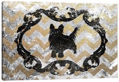 Yorkshire Terrier (Gray&Yellow) Canvas Art Print