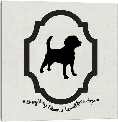 Beagle (Black&White) Canvas Art Print