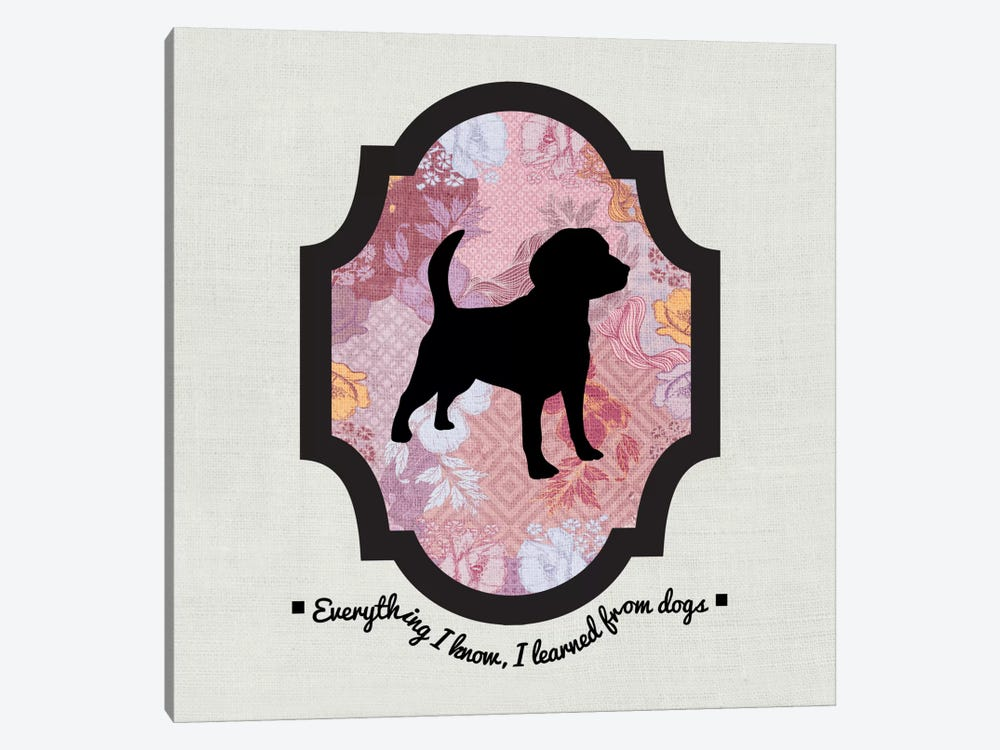 Beagle (Black&Pink) I by 5by5collective 1-piece Canvas Art