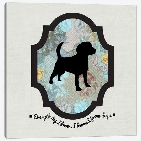 Beagle (Black&Blue) I Canvas Print #OSP19} by 5by5collective Canvas Art