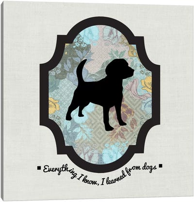 Beagle (Black&Blue) I Canvas Art Print