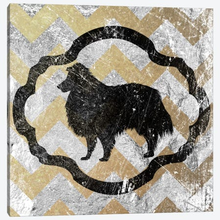Collie (Yellow&Gray) Canvas Print #OSP1} by 5by5collective Canvas Art Print
