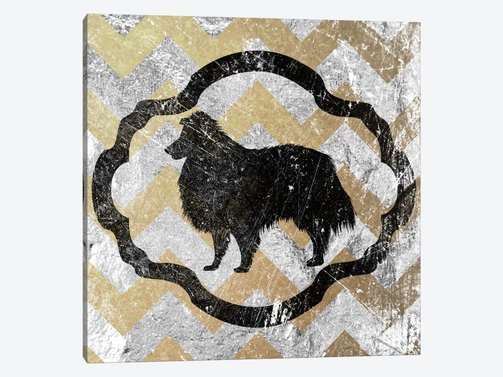 Collie (Yellow&Gray) by 5by5collective 1-piece Canvas Wall Art