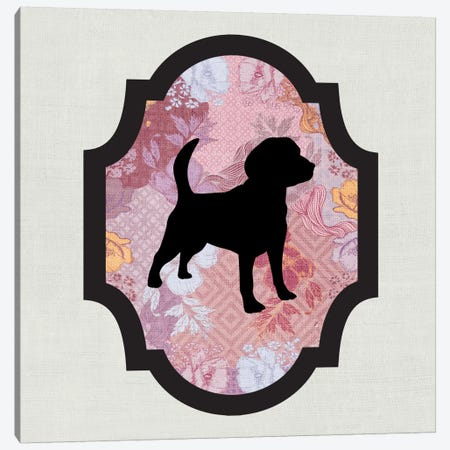 Beagle (Black&Pink) II Canvas Print #OSP20} by 5by5collective Canvas Print
