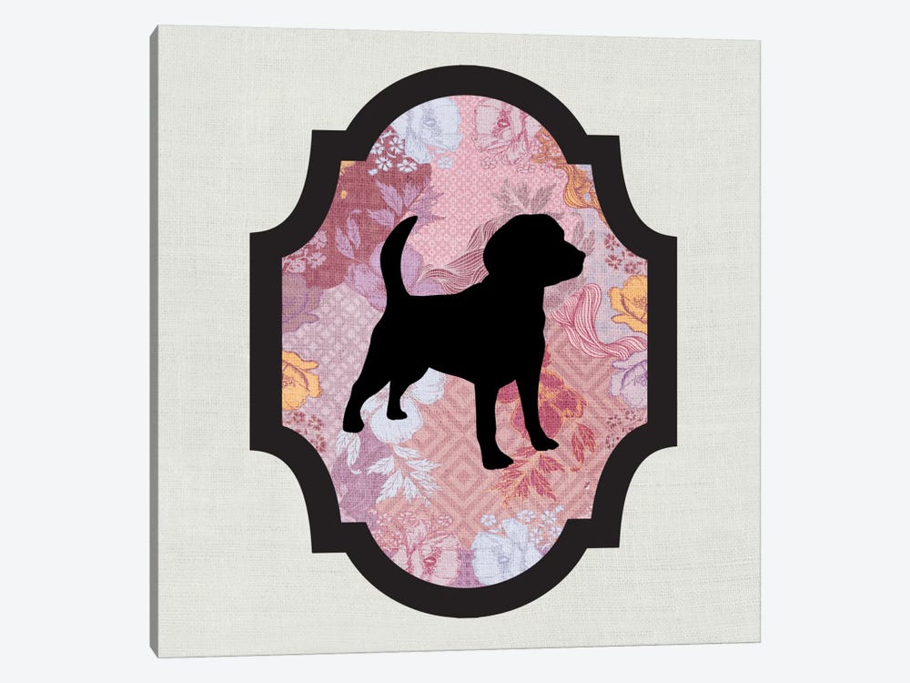 Beagle (Black&Pink) II by 5by5collective 1-piece Canvas Print