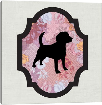 Beagle (Black&Pink) II Canvas Art Print
