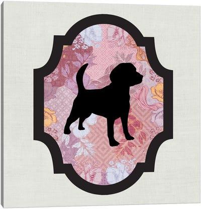 Beagle (Black&Pink) II Canvas Art Print