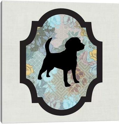 Beagle (Black&Blue) II Canvas Art Print