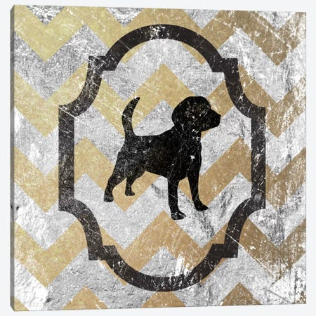 Beagle (Gray&Yellow) Canvas Print #OSP22} by 5by5collective Canvas Print