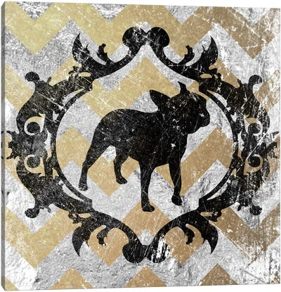 French Bulldog (Yellow&Gray) Canvas Art Print