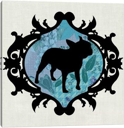 French Bulldog (Black&Blue) I Canvas Art Print