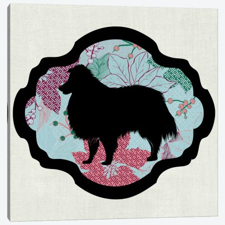 Collie (Red&Blue) I Canvas Print #OSP2} by 5by5collective Canvas Print