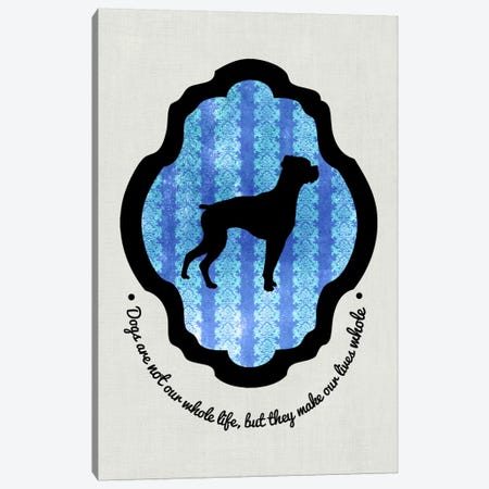 Boxer (Black&Blue) I Canvas Print #OSP30} by 5by5collective Canvas Artwork