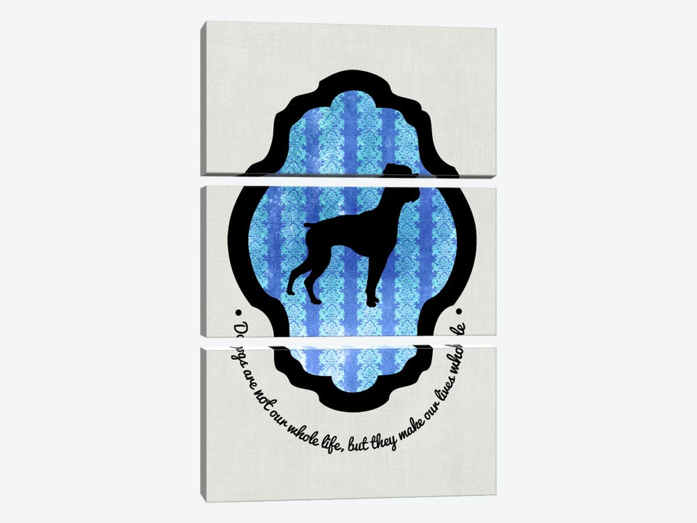 Boxer (Black&Blue) I by 5by5collective 3-piece Canvas Wall Art