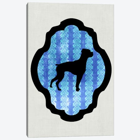 Boxer (Black&Blue) II Canvas Print #OSP31} by 5by5collective Canvas Art