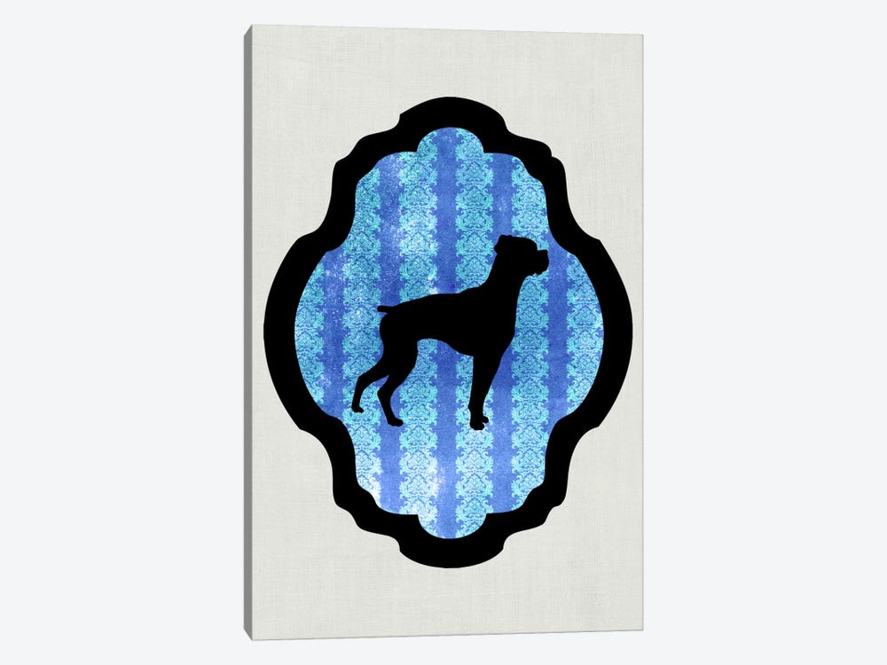 Boxer (Black&Blue) II by 5by5collective 1-piece Art Print