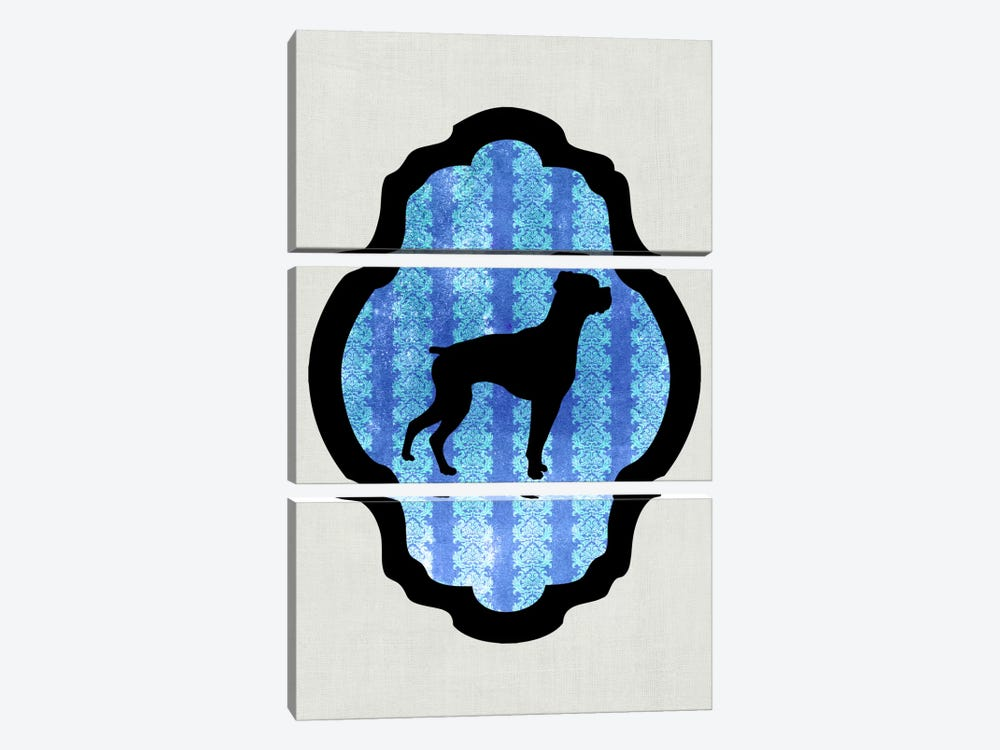 Boxer (Black&Blue) II by 5by5collective 3-piece Canvas Print