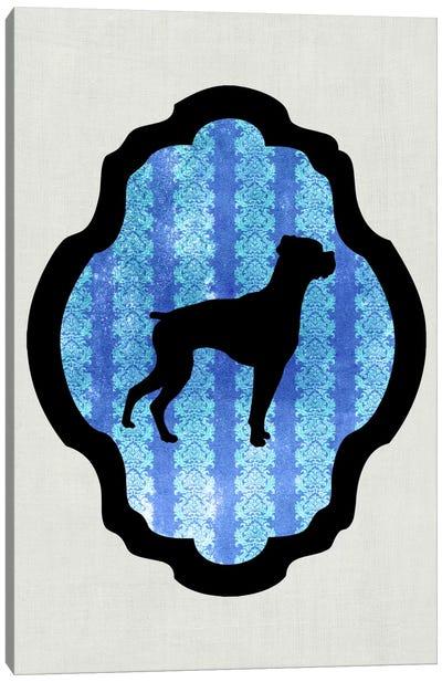 Boxer (Black&Blue) II Canvas Art Print