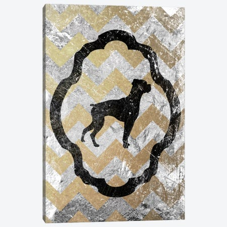 Boxer (Gray&Yellow) Canvas Print #OSP32} by 5by5collective Canvas Wall Art