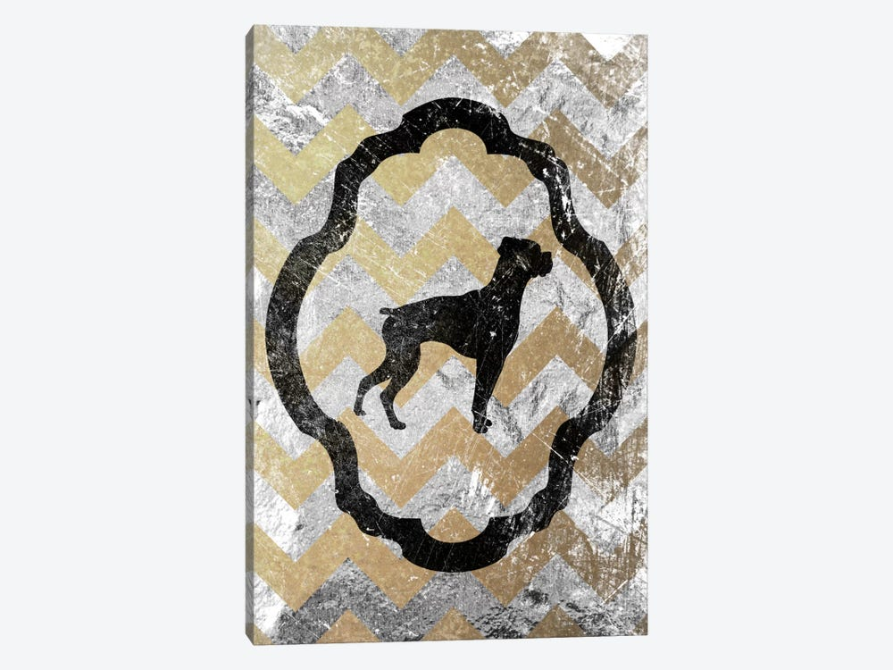 Boxer (Gray&Yellow) by 5by5collective 1-piece Canvas Wall Art