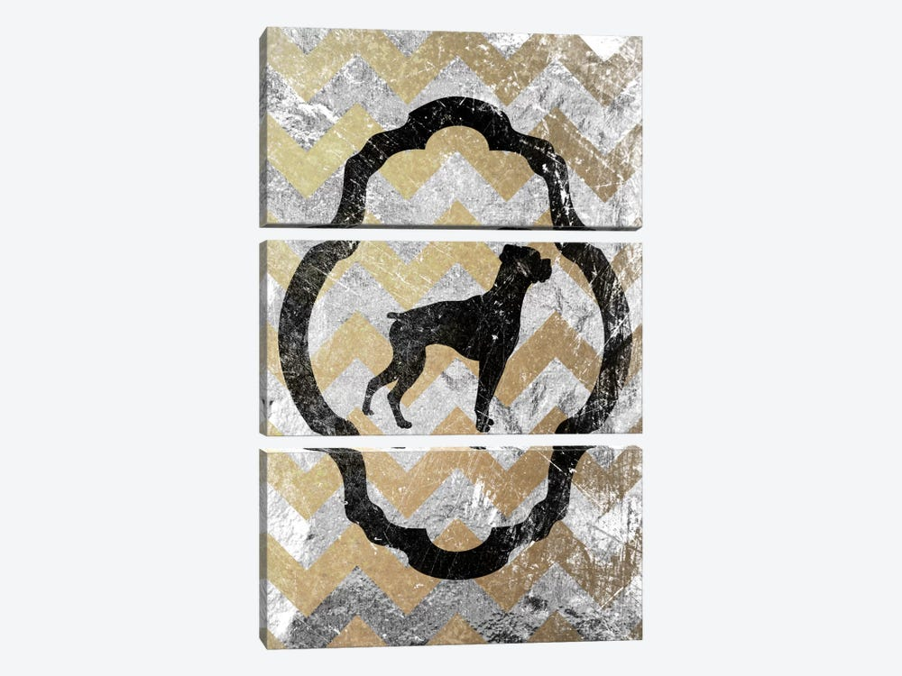Boxer (Gray&Yellow) by 5by5collective 3-piece Canvas Artwork