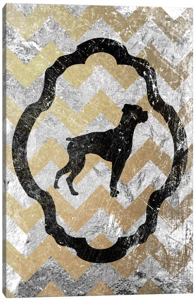 Boxer (Gray&Yellow) Canvas Art Print