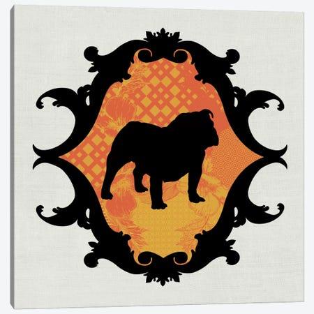 Bulldog (Orange&Black) II Canvas Print #OSP35} by 5by5collective Canvas Art Print