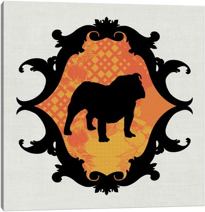 Bulldog (Orange&Black) II Canvas Art Print