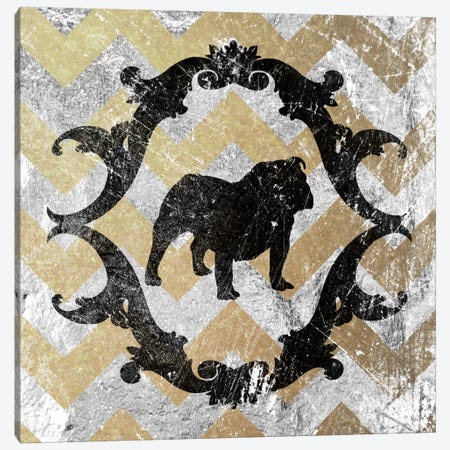 Bulldog (Yellow&Gray) Canvas Print #OSP36} by 5by5collective Art Print