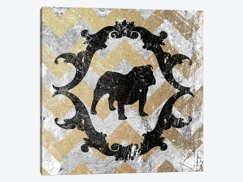Bulldog (Yellow&Gray) by 5by5collective 1-piece Canvas Artwork