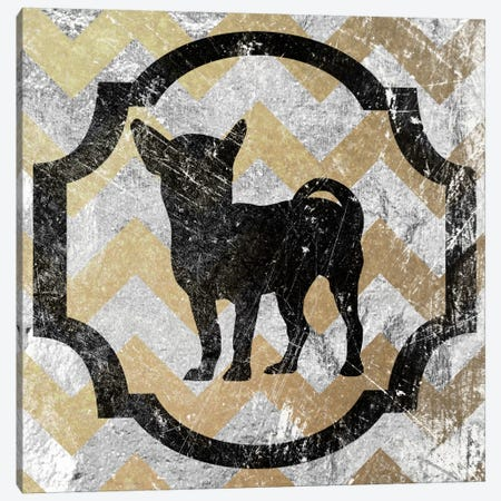 Chihuahua (Yellow&Gray) Canvas Print #OSP37} by 5by5collective Canvas Art Print
