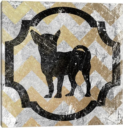 Chihuahua (Yellow&Gray) Canvas Art Print