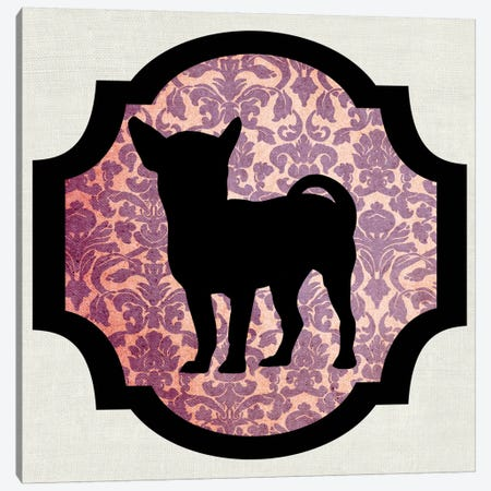 Chihuahua (Vinous&Black) II Canvas Print #OSP38} by 5by5collective Canvas Wall Art