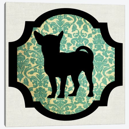 Chihuahua (Green&Black) I Canvas Print #OSP39} by 5by5collective Canvas Wall Art