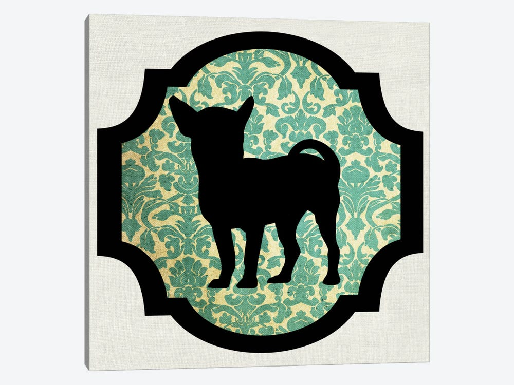 Chihuahua (Green&Black) I by 5by5collective 1-piece Canvas Print