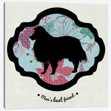 Collie (Red&Blue) II Canvas Print #OSP3} by 5by5collective Canvas Art Print