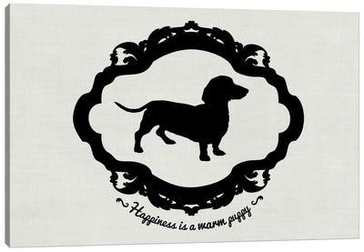 Basset Hound (Gray&Black) Canvas Print #OSP43