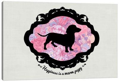 Basset Hound (Pink&Black) I Canvas Print #OSP44