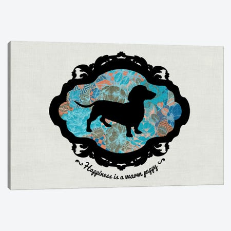 Basset Hound (Blue&Black) I Canvas Print #OSP45} by 5by5collective Canvas Art