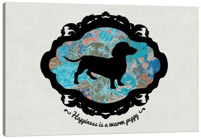 Basset Hound (Blue&Black) I Canvas Print #OSP45
