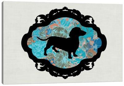 Basset Hound (Blue&Black) II Canvas Art Print