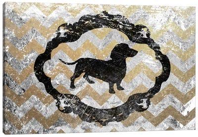 Basset Hound (Gray&Yellow) Canvas Art Print