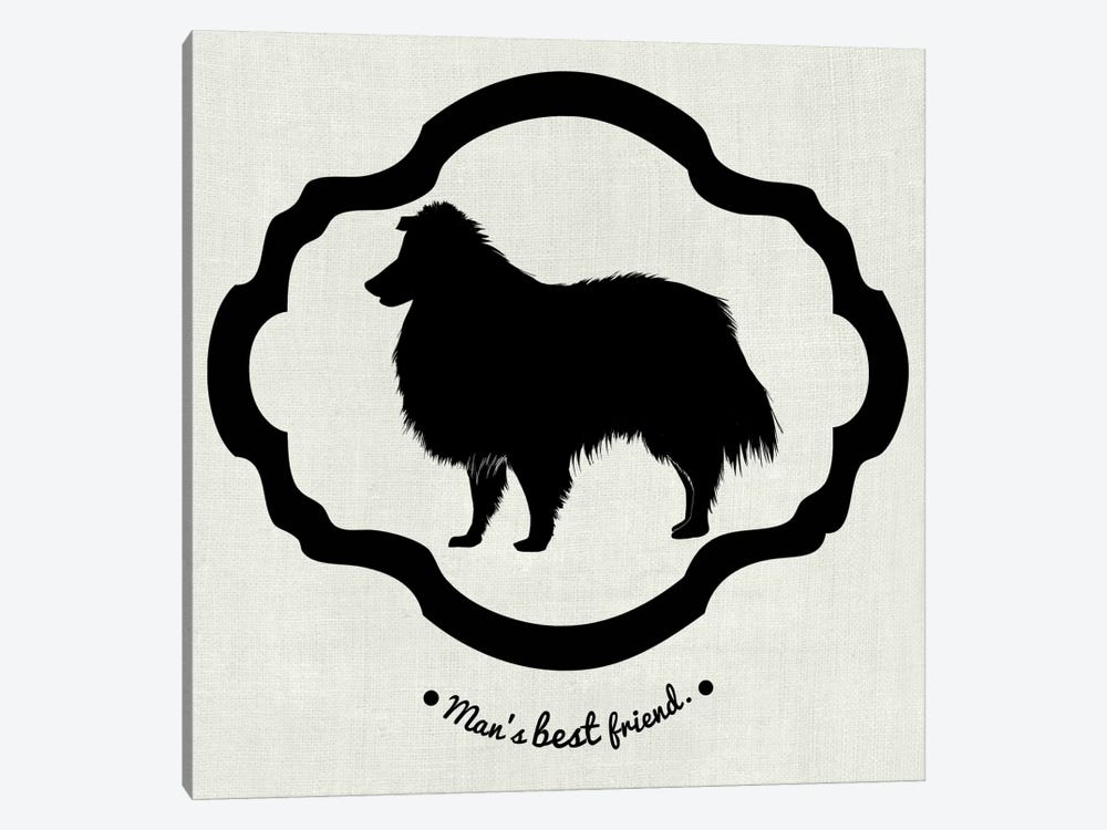 Collie (Black&White) by 5by5collective 1-piece Canvas Print